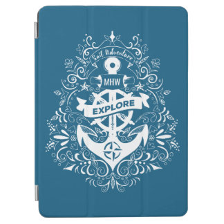 Decorative Anchor custom monogram device covers iPad Air Cover