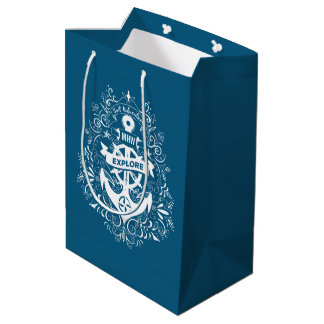 Decorative Anchor custom monogram gift bag