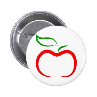 Decorative Apple 6 Cm Round Badge