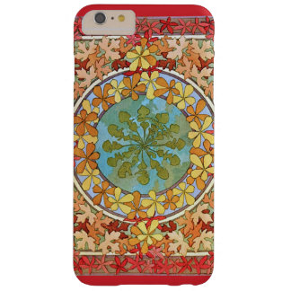 Decorative Art Nouveau Leaves Pattern Barely There iPhone 6 Plus Case