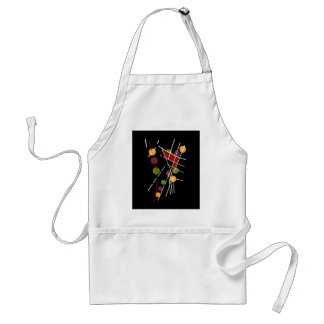 Decorative artistic abstraction standard apron