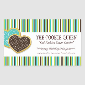 Decorative Bakery Ingredient Labels Rectangular Sticker