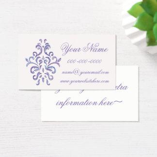 Decorative Baroque Business Card In Purple