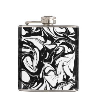 Decorative Black And White Marble Stone Hip Flask