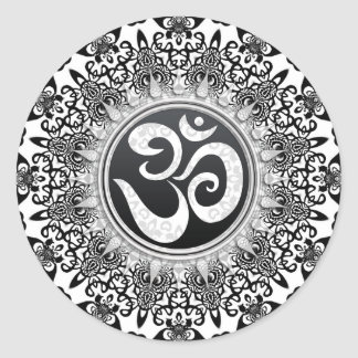 Decorative Black+White Om Spiritual Art Sticker
