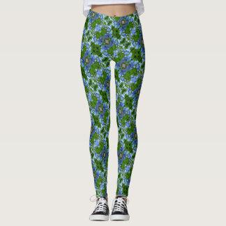 Decorative Blue Green Pattern Leggings