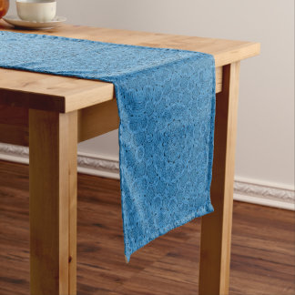 Decorative   Blue  Kaleidoscope  Table Runner