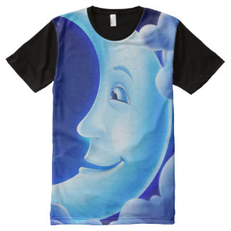 Decorative Blue Moon Man All-Over Print T-Shirt