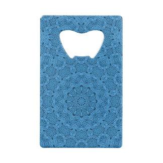 Decorative Blue Vintage  Credit Card Bottle Opener