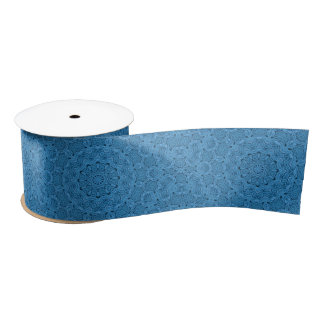 Decorative Blue Vintage Custom Ribbons, 1.5 Satin Ribbon