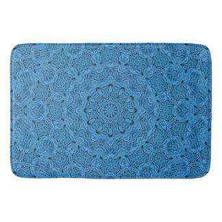 Decorative Blue Vintage  Kaleidoscope  Bath Mats