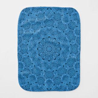 Decorative Blue Vintage  Kaleidoscope Burp Cloth