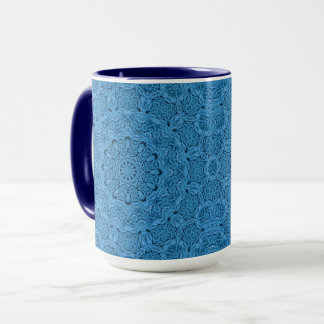 Decorative Blue Vintage Kaleidoscope Combo Mug