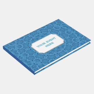 Decorative Blue Vintage Kaleidoscope  Guestbook