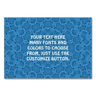 Decorative Blue Vintage  Kaleidoscope  Tablecards Card