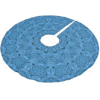 Decorative Blue Vintage Kaleidoscope  Tree Skirt