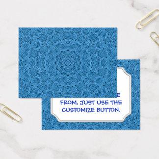Decorative Blue Vintage Pattern  Business Cards