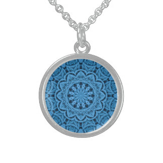 Decorative Blue Vintage Sterling Silver  Necklaces