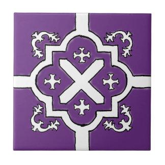 Decorative Blue Violet Spanish Style tile