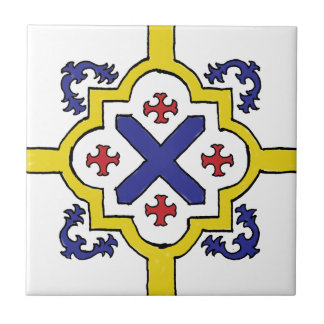 Decorative Blue/Yellow/Red Spanish Style tile