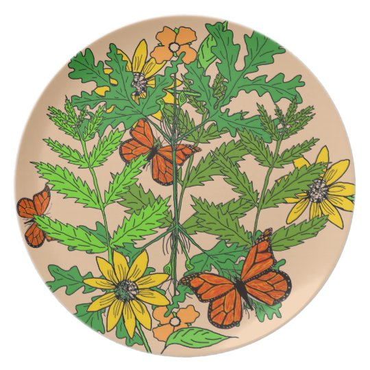 Decorative Botanical Plate