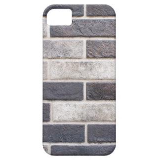 Decorative brickwork of white and black bricks iPhone 5 cover