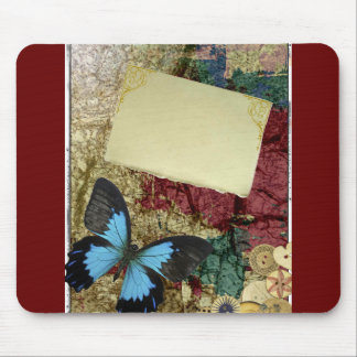 DECORATIVE BUTTERFLY SCRAP BOOKING ART MOUSE PAD