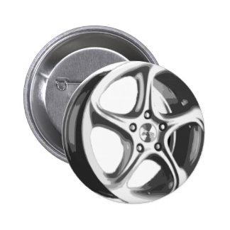 Decorative Car Rim 6 Cm Round Badge