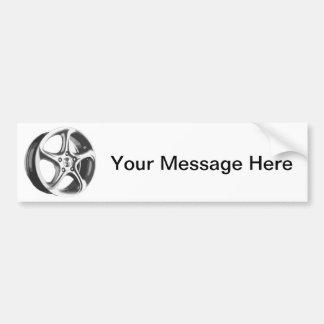 Decorative Car Rim Bumper Sticker