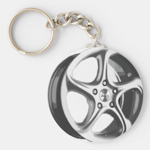 Decorative Car Rim Keychains