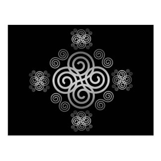 Decorative Celtic design. Postcard