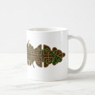 Decorative Celtic Knots With Ivy Basic White Mug