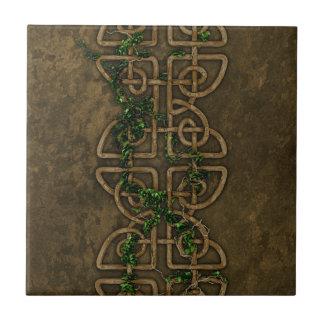 Decorative Celtic Knots With Ivy Ceramic Tile
