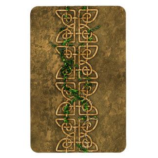 Decorative Celtic Knots With Ivy Rectangular Magnet