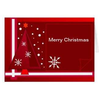 Decorative Christmas card with Text