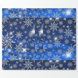 Decorative Christmas Ornaments with Snow Wrapping Paper
