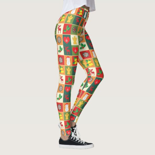 Decorative Christmas Pattern Leggings
