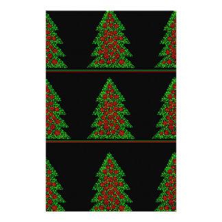 Decorative Christmas tree pattern Personalized Stationery