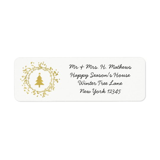 Decorative Christmas Tree Return Address Label