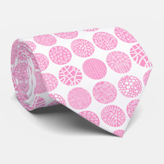 Decorative Circles - Pink and White Tie
