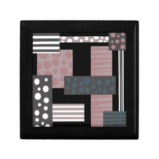 Decorative collage small square gift box