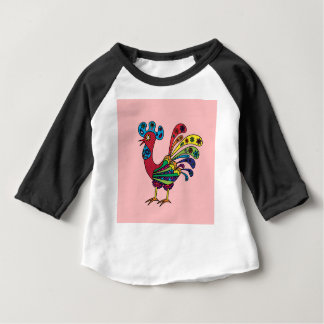 Decorative colored rooster baby T-Shirt