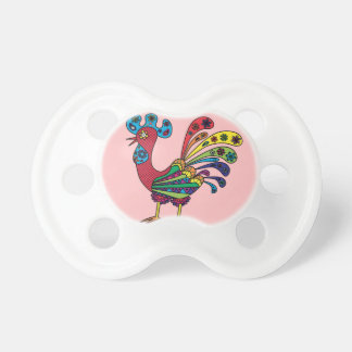 Decorative colored rooster dummy
