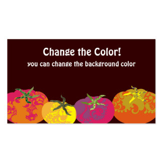 Decorative colorful tomatoes chef catering pack of standard business cards