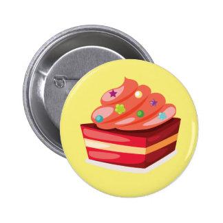 Decorative Cream Cake Button Badge