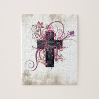 Decorative cross jigsaw puzzle