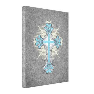 Decorative Cross, retro style Canvas Print