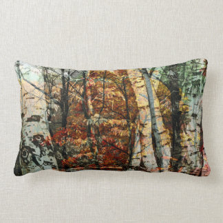 Decorative & Custom Throw Pillow - Birches Theme