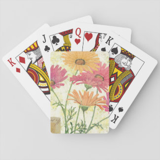 Decorative Daisies Playing Cards