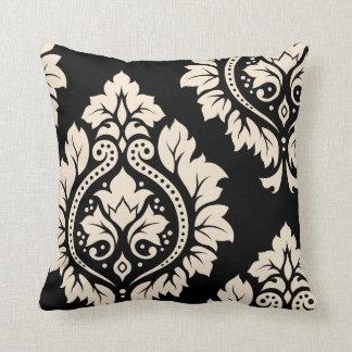 Decorative Damask Art I – Black & Cream (2-way) Cushion